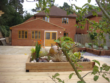 Single storey extension complete